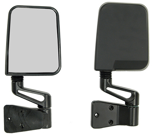 Jeep Wrangler Black Side Mirrors (1987-2002)