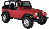Jeep Wrangler Bushwacker Pocket Style Fender Flare Kit (1997-2006)
