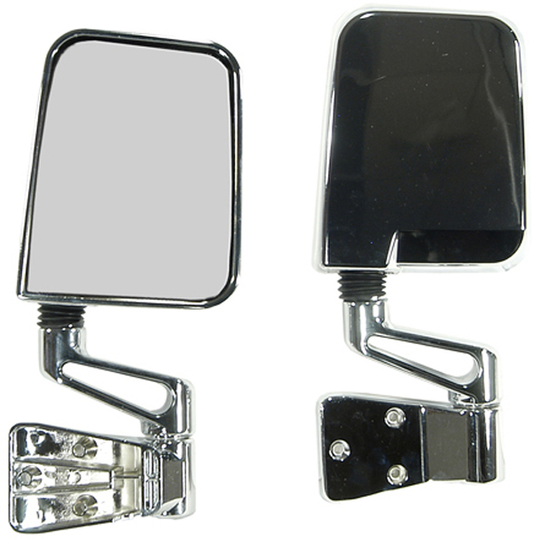 Jeep Wrangler Chrome Side Mirrors-Pair (1987-2002)