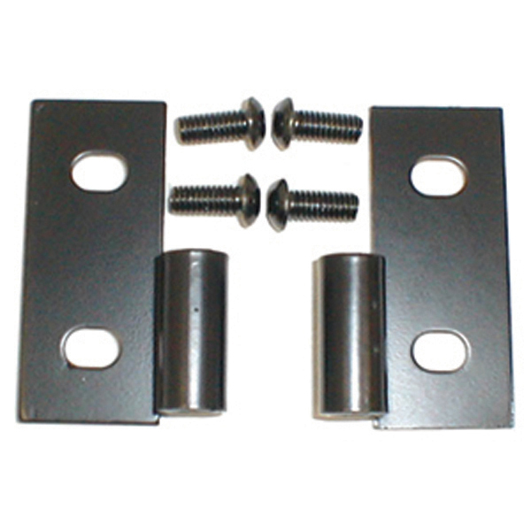 Jeep Wrangler & CJ Black Lower Door Hinge Brackets-Pair (1976-2006)