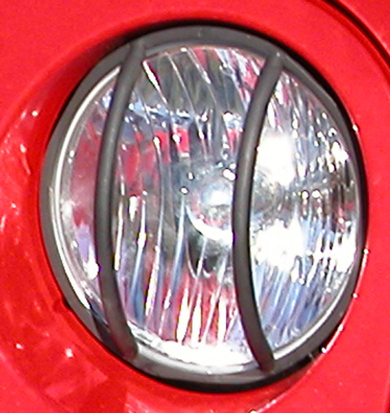 Jeep Wrangler (JK) Black Euro Headlight Euro Guard-Pair (2007-2017)