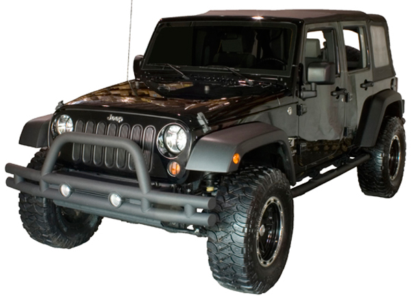 Jeep Grill Guards And Bumpers : Jeep wrangler jk front textured black tube bumper with