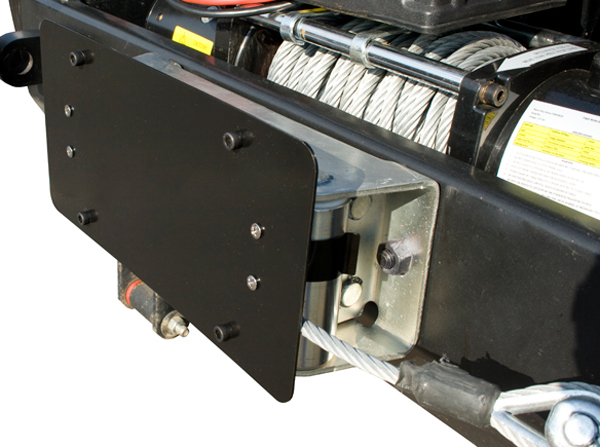 Jeep Wrangler Roller Fairlead License Plate Mounting