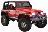 Jeep Wrangler/Unlimited Bushwacker Flat Style Fender Flare Kit (1997-2006)