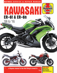 Kawasaki EX650 & ER650 Haynes Repair Manual (2006-2016)