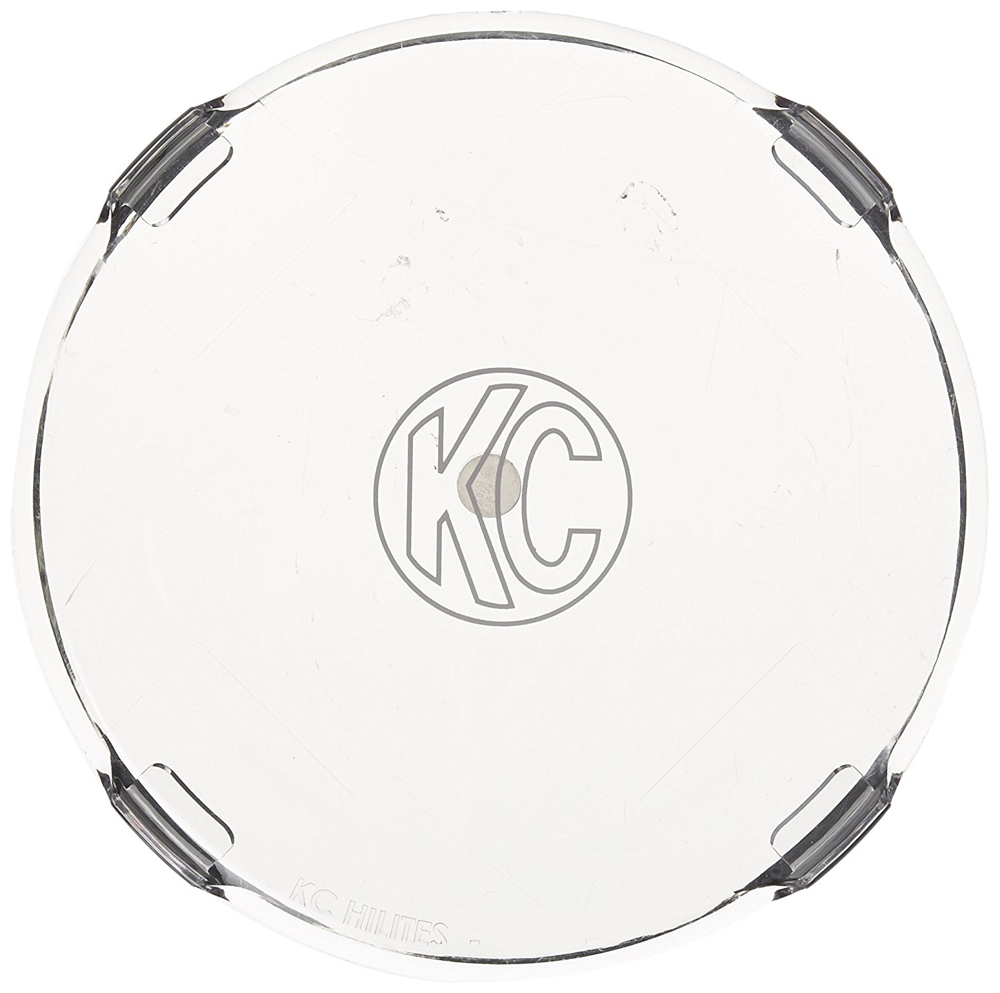 """Image of KC Hilites 6"""" Round Clear Acrylic Light Shields Pair"""