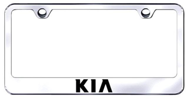Image of Kia Laser Etched Stainless Steel License Plate Frame