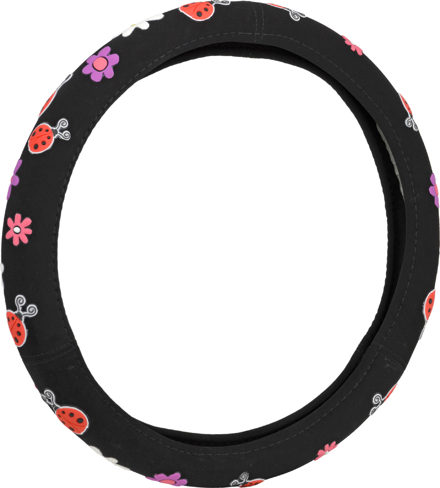 Image of Lady Bug Steering Wheel Cover