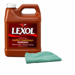 Lexol Leather Conditioner Refill (33.8 oz.) & Microfiber Cloth Kit