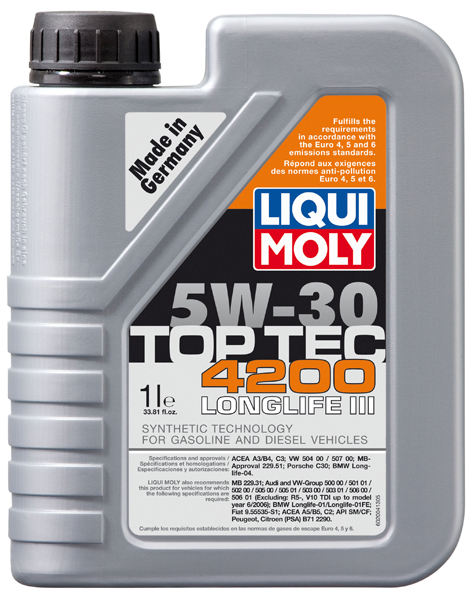 liqui moly top tec 4200 5w30 synthetic motor oil xxx20xx. Black Bedroom Furniture Sets. Home Design Ideas
