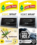 Little Tree Vent Wrap Steadi-Scent Air Fresheners (4 Pack)