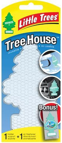 Image of Little Trees Bayside Breeze Air Freshener & Clear Air Freshener Holder