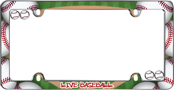 Live Baseball License Plate Frame Kit - CRU23313