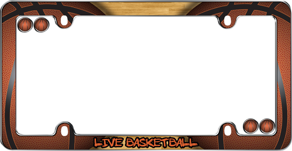 Live Basketball License Plate Frame Kit - CRU23323