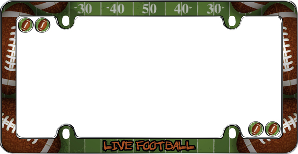 Live Football License Plate Frame Kit - CRU23303
