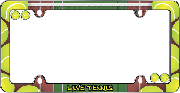Live Tennis License Plate Frame Kit - CRU23353