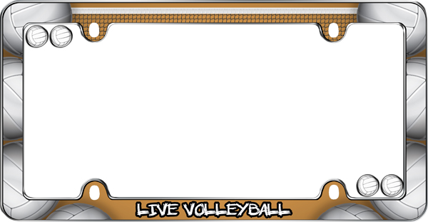 live volleyball license plate frame kit cru23343