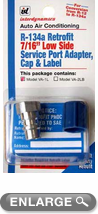 Low Side Adapters with Cap & Retrofit Label