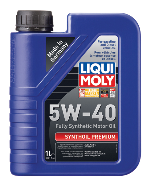 liqui moly synthoil high tech 5w 40 motor oil synthoil. Black Bedroom Furniture Sets. Home Design Ideas