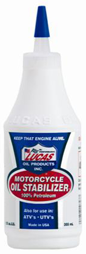 Image of Lucas Motorcycle Oil Stabilizer 12 Oz