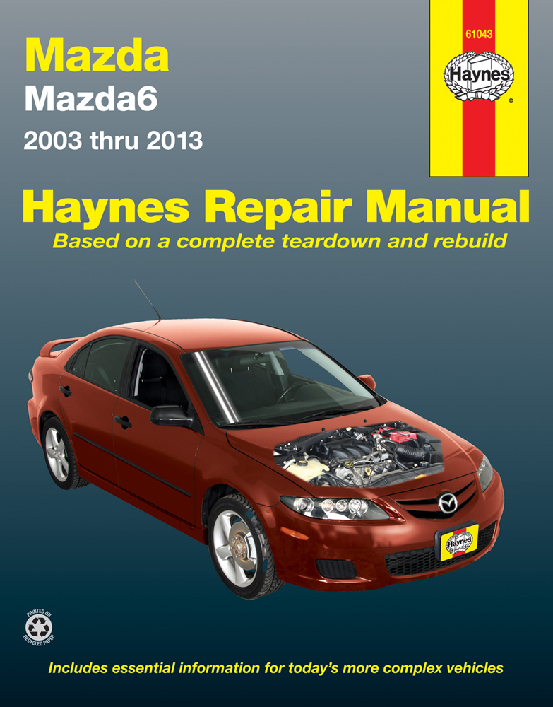 mazda 6 haynes repair manual  2003-2013