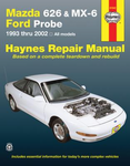 Ford repair manuals mazda 626 mx 6 ford probe haynes repair manual covering 1993 fandeluxe Choice Image