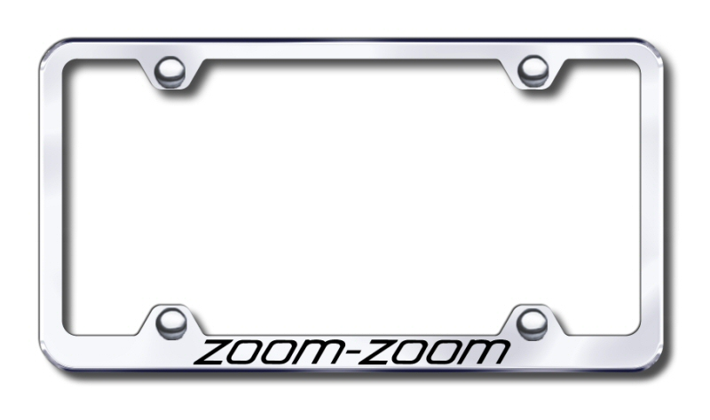 Mazda Zoom-Zoom Laser Etched Stainless Steel Wide License Plate ...