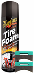 Meguiar's Hot Shine Tire Foam (19 oz) & Applicator Pads Kit