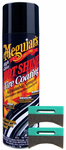 Meguiar's Hot Shine Tire Spray (15 oz) & Applicator Pads Kit