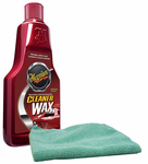Meguiar's Liquid Cleaner Wax (16 oz.) & Microfiber Cloth Kit