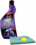Meguiar's NXT Generation Tech Wax 2.0 Liquid Wax (18 oz), Microfiber Cloth & Foam Pad Kit