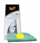 Meguiar's White Paste Wax (7 oz), Foam Pad & Microfiber Cloth Kit