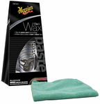 Meguiars Black Paste Wax (8 oz.) & Microfiber Cloth Kit