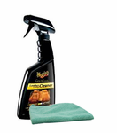 Meguiars Gold Class Leather & Vinyl Cleaner (16 oz), Microfiber Cloth Kit