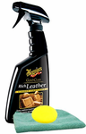 Meguiars Gold Class Rich Leather Spray (16 oz.), Microfiber Cloth & Foam Pad Kit