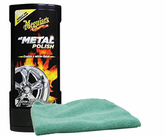 Meguiars Hot Rims All Metal Polish (8 oz), Microfiber Cloth Kit