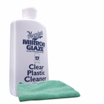 Meguiars Professional Clear Plastic Cleaner (8 oz.), Microfiber Cloth Kit