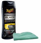 Meguiars Ultimate Black Plastic Restorer & Microfiber Cloth Kit