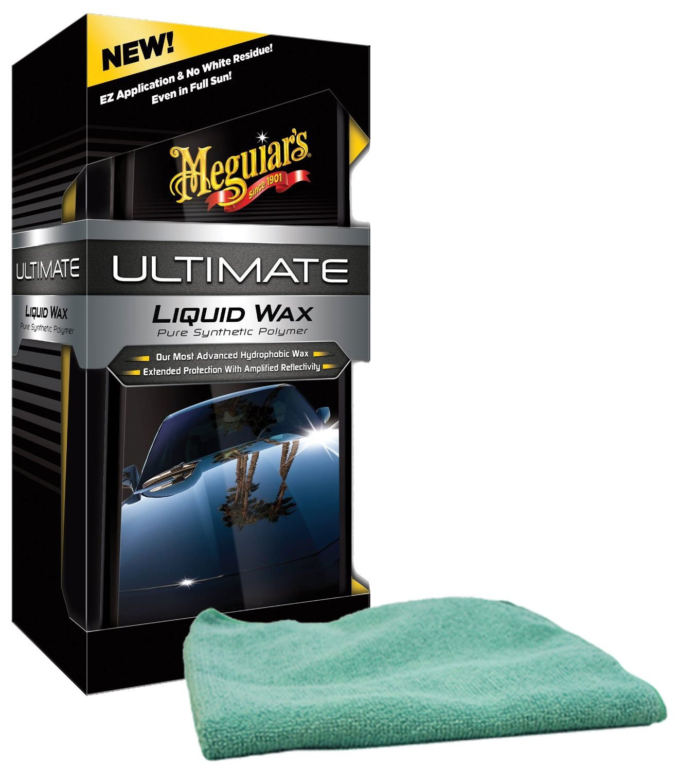 Image of Meguiars Ultimate Liquid Wax & Microfiber Cloth Kit