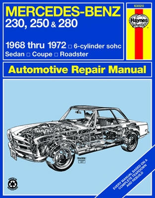 Image of Mercedes Benz 230 250 & 280 Haynes Repair Manual (1968 - 1972)