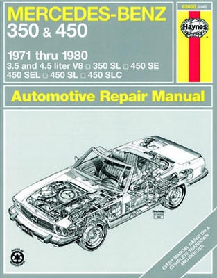 Image of Mercedes Benz 350 & 450 Haynes Repair Manual (1971-1980)