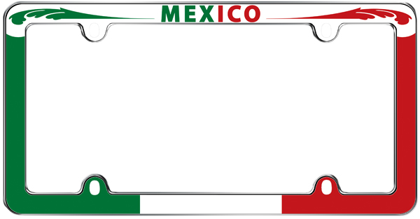 mexican flag license plate frame - Mexican Frame