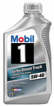 Mobil 1 5W40 Turbo Diesel Truck Synthetic Motor Oil (1Qt)