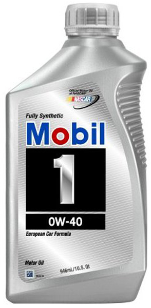 Image of Mobil 1 Synthetic 0W40 Motor Oil