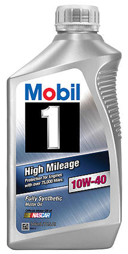 mobil 1 synthetic high mileage 10w40 motor oil oil44993. Black Bedroom Furniture Sets. Home Design Ideas