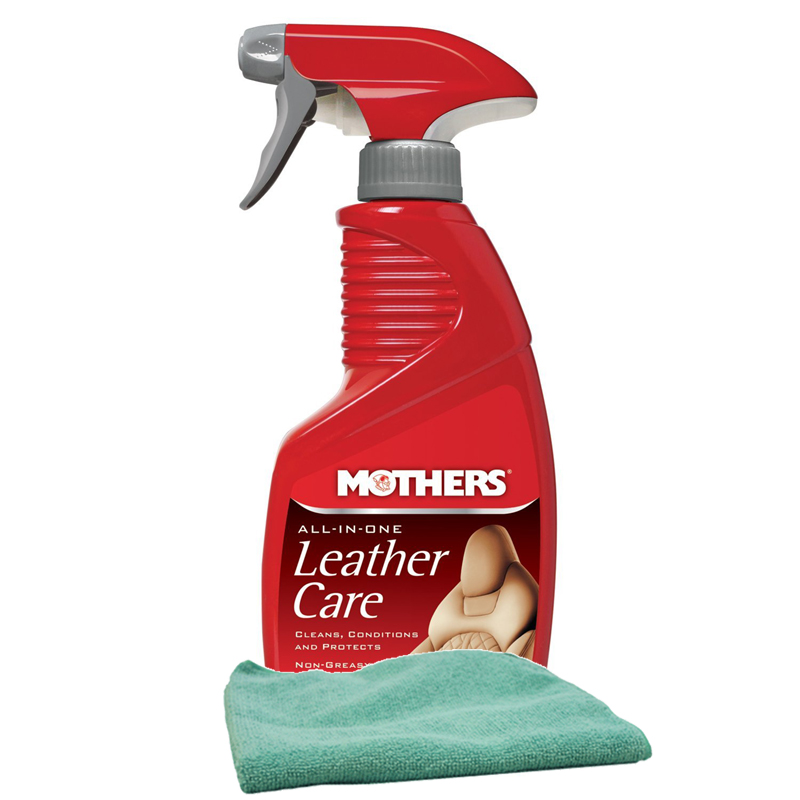 Image of Mothers All-In-One Leather Care 12 oz Microfiber Cloth Kit