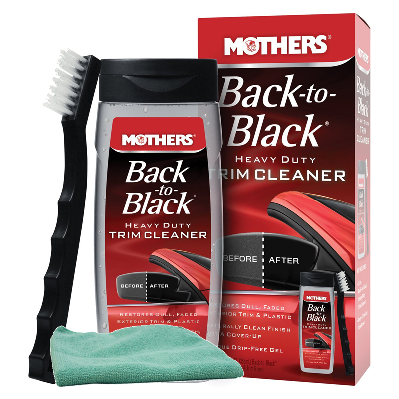 Image of Mothers Back-To-Black Heavy Duty Trim Cleaner Kit & Microfiber Cloth Kit