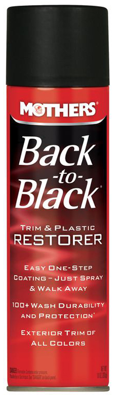 Image of Mothers Back-To-Black Trim & Plastic Restorer Aerosol 10 oz