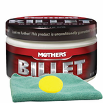 Mothers Billet Metal Polish (4 oz.), Microfiber Cloth & Foam Pad Kit