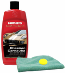 Mothers California Gold Brazilian Carnauba Cleaner Wax, Microfiber Cloth & Foam Pad Kit